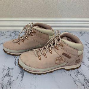 Timberland Euro Sprint Mid Hiker Boots Pink 9.5